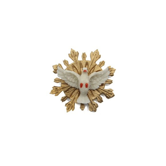 DI109100 - Divino Espírito Santo de Resina - 10x9,5cm