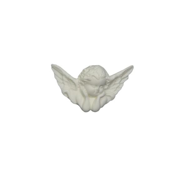 AJ11030 - Anjinho de Biscuit Branco - 6,5x4cm