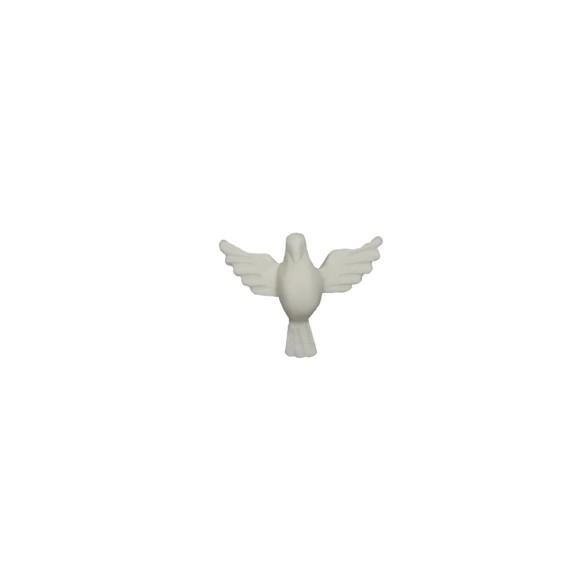 DI16030 - Divino Espírito Santo de Biscuit Branco - 3x4cm