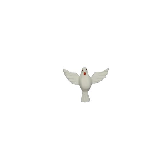 DI16031 - Divino Espírito Santo de Biscuit Branco - 3x4cm