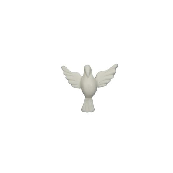 DI16040 - Divino Espírito Santo de Biscuit Branco - 4,5x4cm