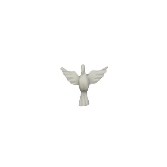 DI109010P2 - Divino Espírito Santo de Resina c/ 2un. - 5x4,5cm