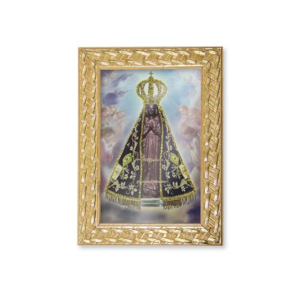 QD91001 - Quadro Moldura N. Sra. Aparecida - 13x18cm
