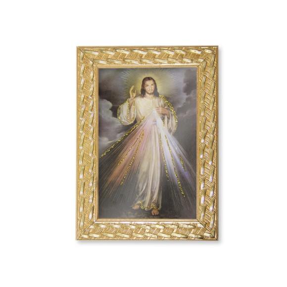 QD91105 - Quadro Moldura Jesus Misericordioso - 13x18cm