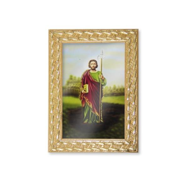 QD91108 - Quadro Moldura São Judas Tadeu - 13x18cm