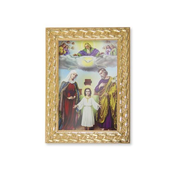 QD91215 - Quadro Moldura Sagrada Família - 13x18cm