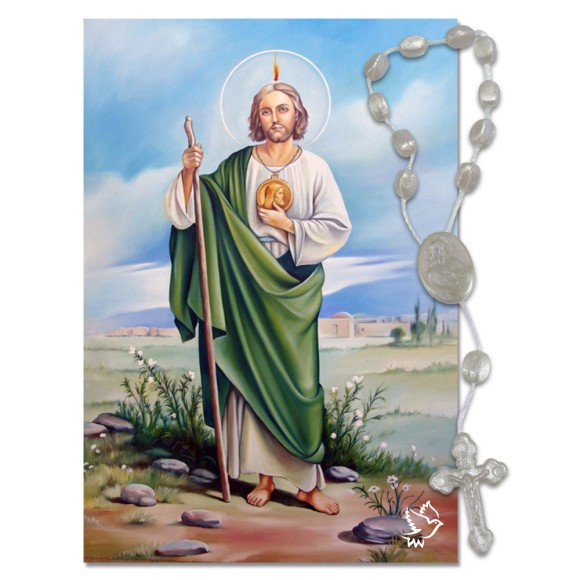 IA40414 - ÚLTIMAS PEÇAS Imã São Judas c/ Dezena de Acrílico - 7x5cm