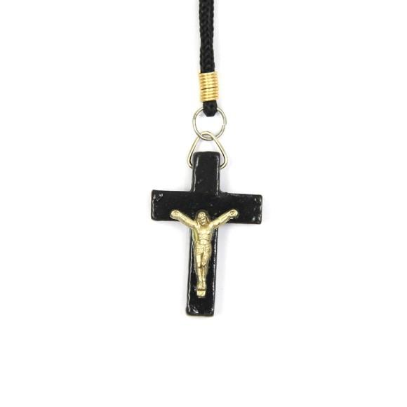 CC36001 - Cordão c/ Crucifixo Madeira - 37,5cm (106)