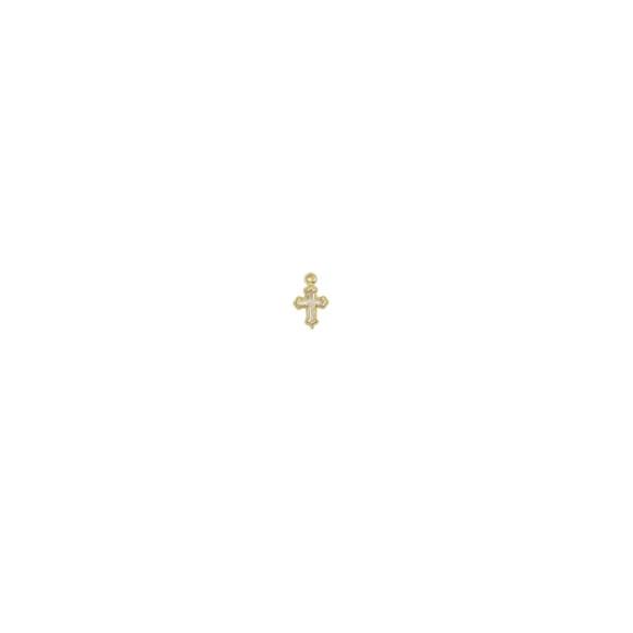 CZ89010P6 - Cruz Metal Branca c/ 6un. - 0,5x1,3cm