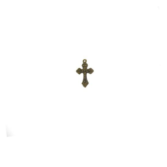 CZ89092P10 - Crucifixo Metal Ouro Velho c/ 10un. - 2,5x1,3cm