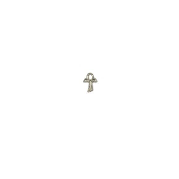 CZ89201P10 - Tau Metal Níquel Envelhecido c/ 10un. - 1x1,5cm