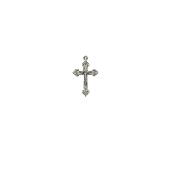 CZ86011P10 - Crucifixo Metal Níquel Envelhecido c/ 10un. - 3,5x2,2cm