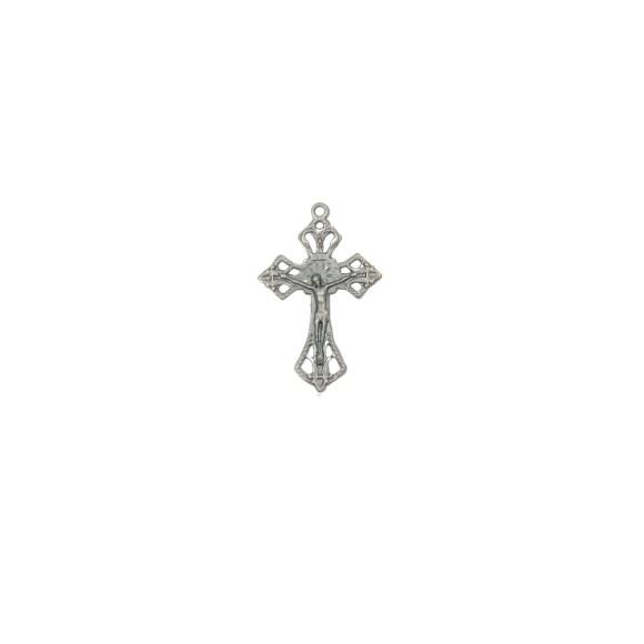 CZ86081P3 - Crucifixo Metal Níquel Envelhecido c/ 3un. - 4,3x2,8cm