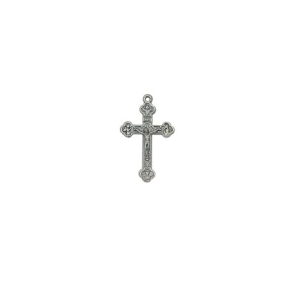 CZ86101P2 - Crucifixo Metal Níquel Envelhecido c/ 2un. - 4,5x2,6cm