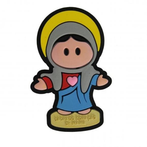 IA5003 - Imã Sagrado Coração de Maria Emborrachado - 6x4cm