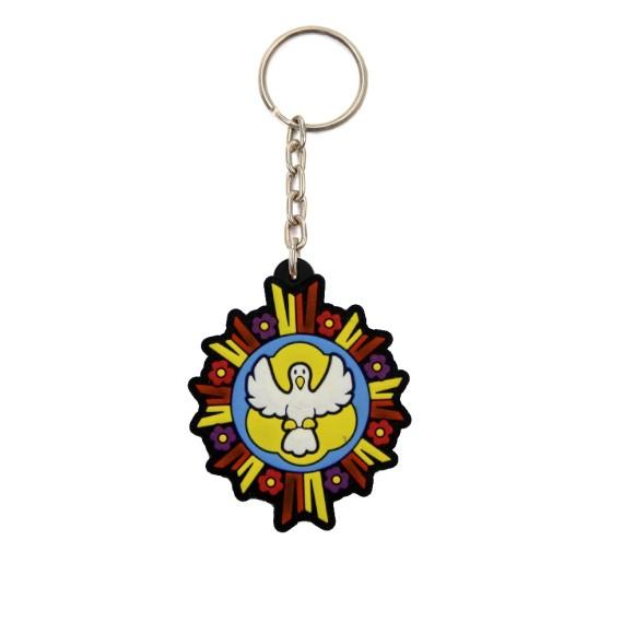 CH50813 - Chaveiro Divino Espírito Santo Emborrachado - 11x4,5cm