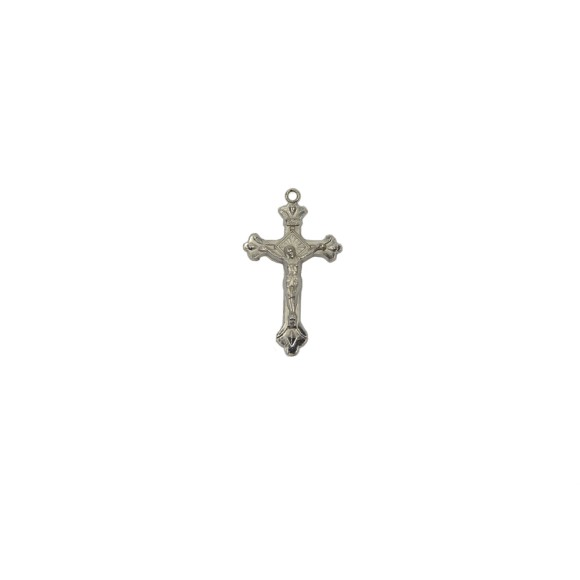 CZ86015P4 - Crucifixo Metal Níquel c/ 4un. - 4,2x2,3cm