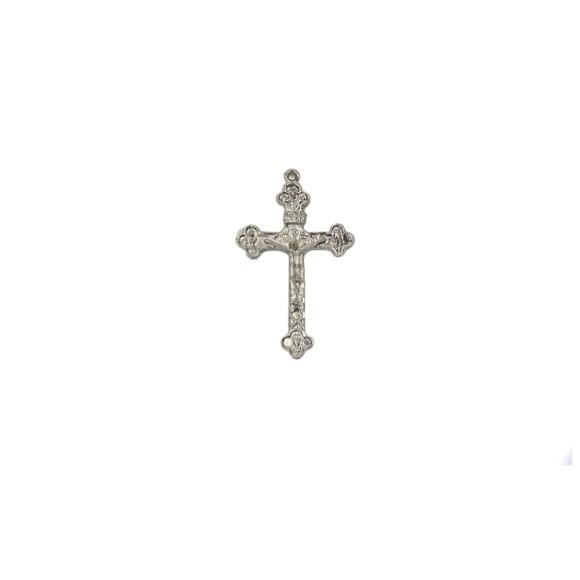 CZ86350P2 - Crucifixo Metal Níquel c/ 2un. - 5x3cm