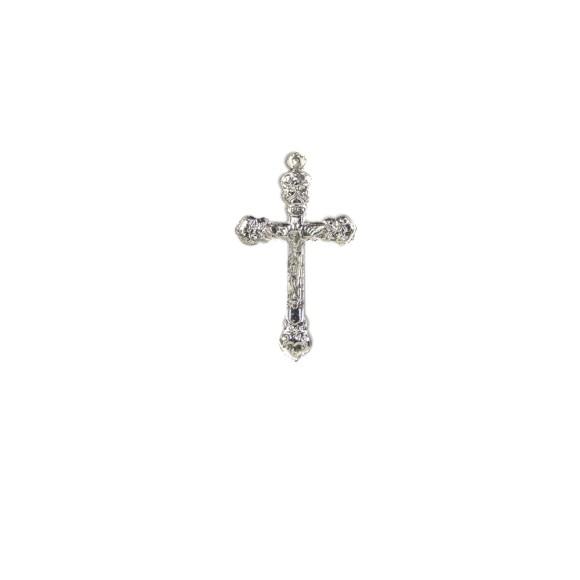 CZ85090 - Crucifixo Metal Níquel - 7x4cm