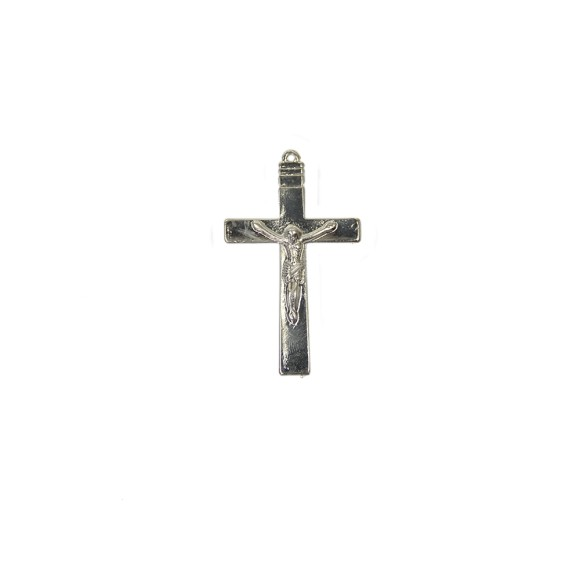 CZ85130 - Crucifixo Metal Níquel - 7x4cm