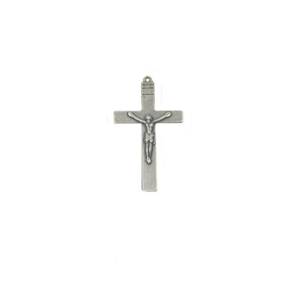CZ85131 - Crucifixo Metal Níquel Envelhecido - 7x4cm