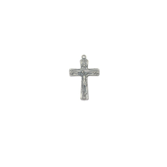 CZ85141 - Crucifixo Metal Santissíma Trindade Níquel Envelhecido - 6,3x4,2cm
