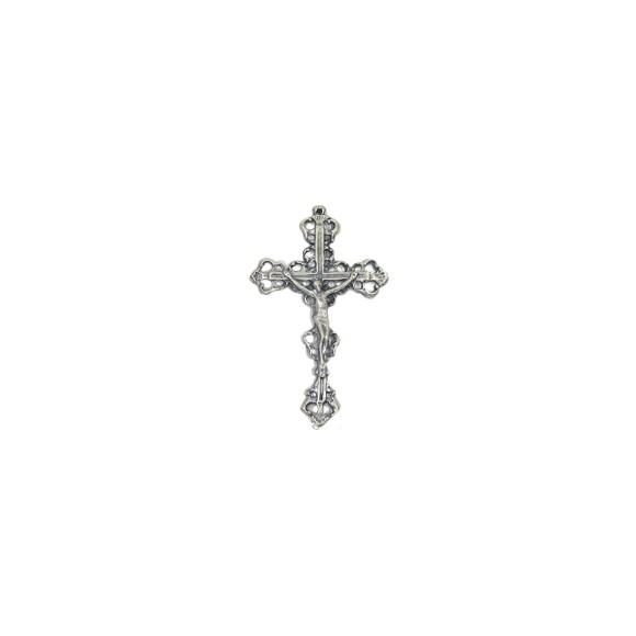 CZ85242 - Crucifixo Metal Níquel Envelhecido - 7,7x4,8cm
