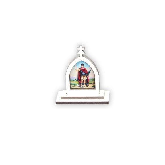 CP81051 - Capela Santo Expedito MDF Branca - 6x5,5cm