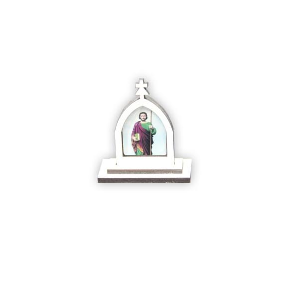 CP81053 - Capela São Judas Tadeu MDF Branca - 6x5,5cm