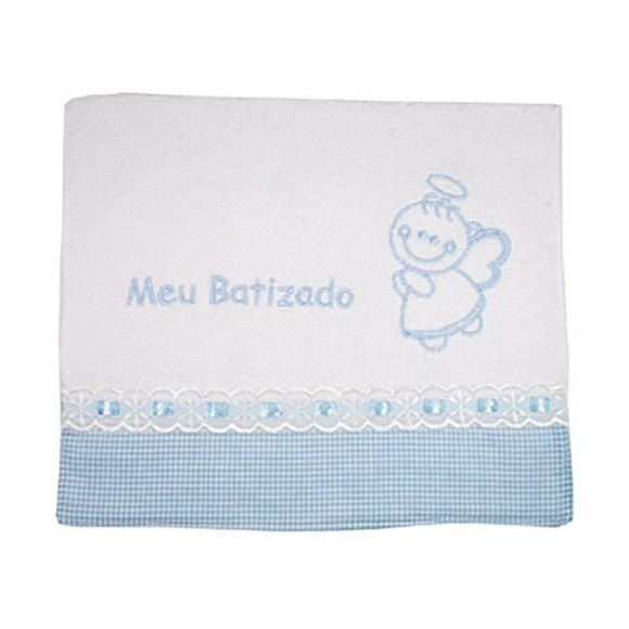 TO1411 - Toalha Batismo Azul - 41x24cm