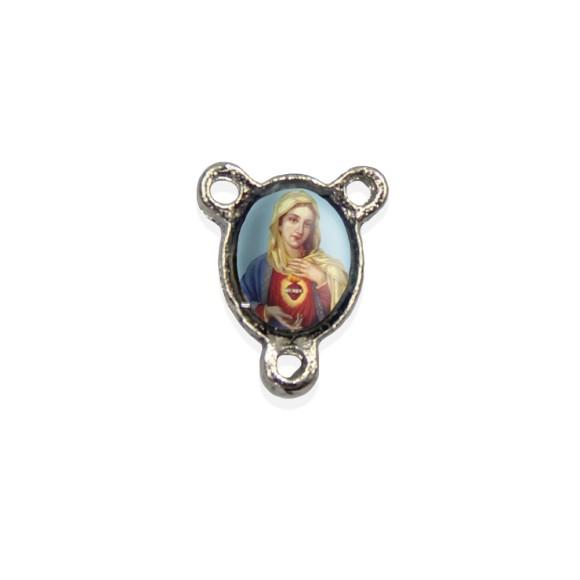 ET1670015P10 - Entremeio Sagrado Coração de Maria Resinado c/ 10un. - 1,5x1,1cm