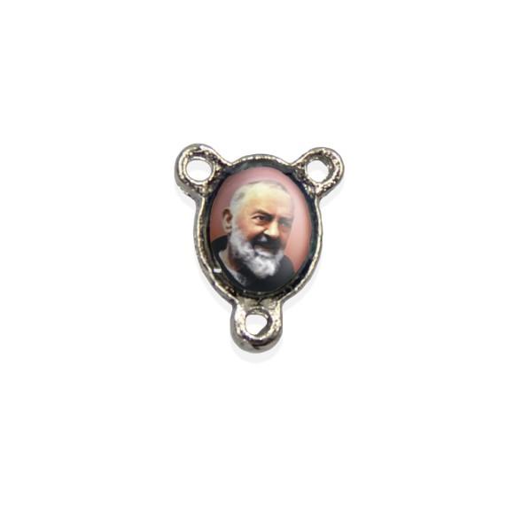 ET1670403P10 - Entremeio São Padre Pio de Pietrelcina Resinado c/ 10un. - 1,5x1,1cm