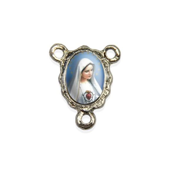 ET1671000P5 - Entremeio Imaculado Coração de Maria Resinado c/ 5un. - 1,9x1,5cm