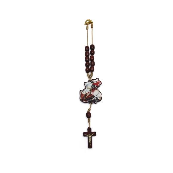 DZ610170 - Dezena São Jorge c/ Fecho (Proteção para Carro) - 26x4,5cm