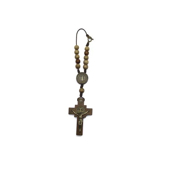 DZ610205 - Dezena Medalha São Bento c/ Fecho (Proteção para Carro) - 23x4,5cm