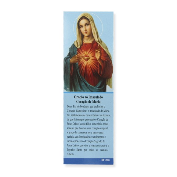 MP67108P50 - Marcador de Página Sagrado Coração de Maria c/ 50un. - 15x5cm