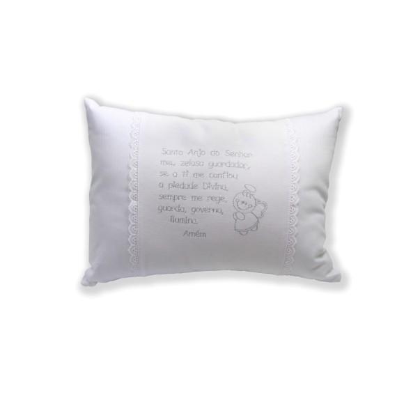 AL80100 - Almofada Santo Anjo Branca - 33x23cm