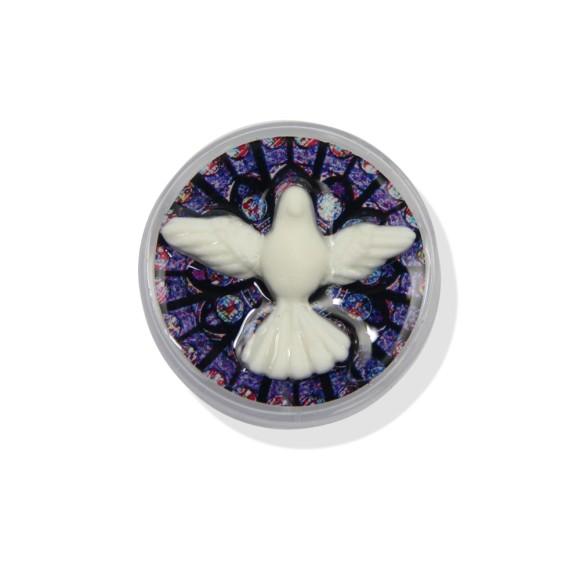 CXD75002P6 - Caixinha de Acrílico Divino Espírito Santo c/ 6un. - 3,5x3,5cm