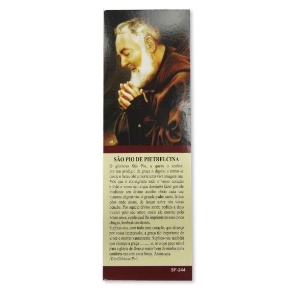 MP67213P50 - Marcador de Página São Padre Pio de Pietrelcina c/ 50un. - 15x5cm