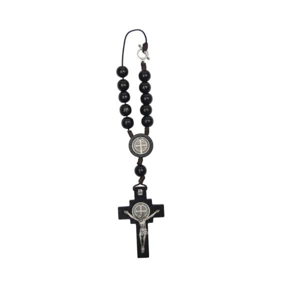 DZ610206 - Dezena Medalha São Bento c/ Fecho (Proteção para Carro) - 23x4,5cm