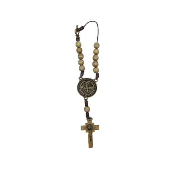 DZ610212 - Dezena Medalha São Bento c/ Fecho (Proteção para Carro) - 20x3cm