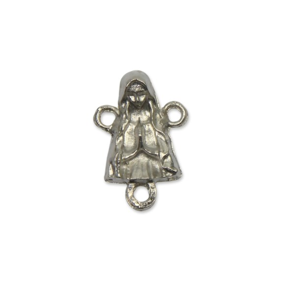 ET1650060P3 - Entremeio Nossa Senhora Níquel c/ 3un. - 2,2x1,5cm