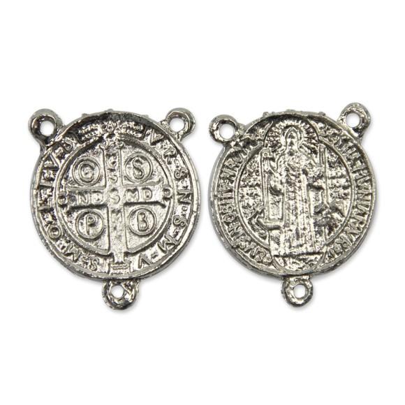 ET1630045 - Entremeio Medalha de São Bento Níquel  - 3,5x3cm