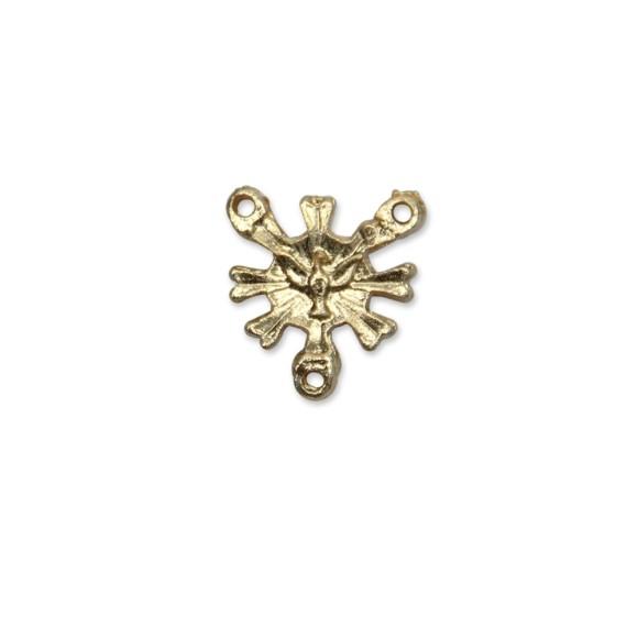 ET1640204P5 - Entremeio Divino Espírito Santo Dourado c/ 5un. - 2x1,8cm