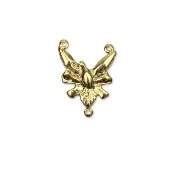 ET1640214P2 - Entremeio Divino Espírito Santo Dourado c/ 2un. - 2x2,5cm