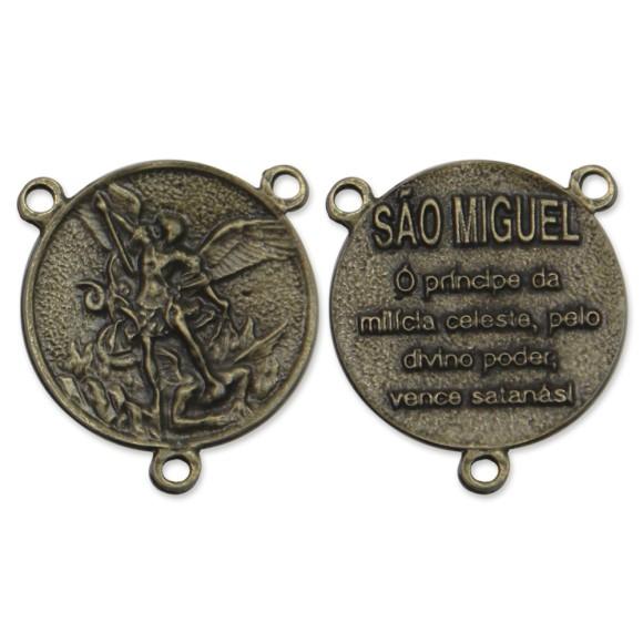 ET1640405 - Entremeio São Miguel Arcanjo Ouro Velho - 3x3cm