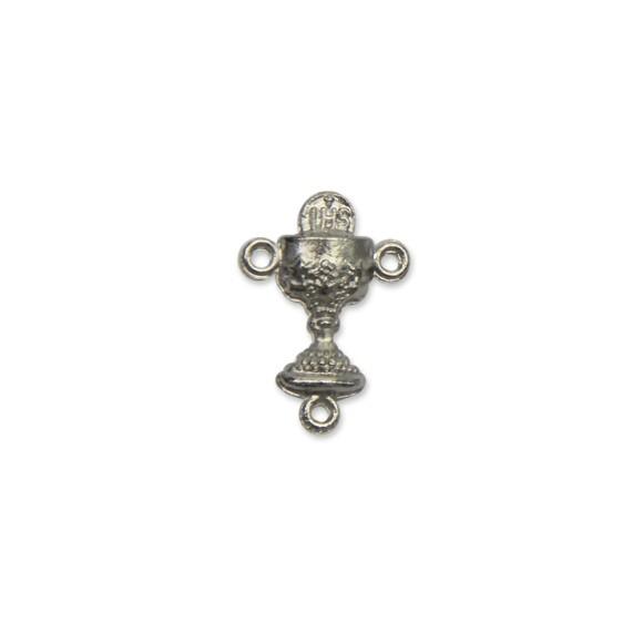 ET1640601P6 - Entremeio Primeira Eucaristia Níquel Envelhecido c/ 6un. - 2x1,5cm