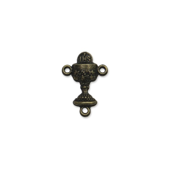 ET1640603P6 - Entremeio Primeira Eucaristia Ouro Velho c/ 6un. - 2x1,5cm