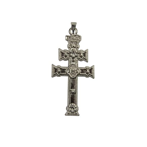 CZ85340 - Cruz Caravaca Metal Níquel - 7x3,3cm