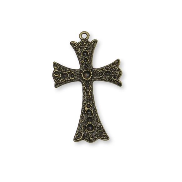 CZ85542 - Cruz Metal Ouro Velho - 8x5cm